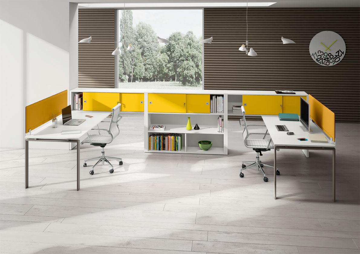 idee amenagement bureau open space. Black Bedroom Furniture Sets. Home Design Ideas