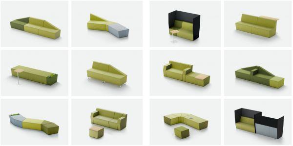chauffeuses modulaires mendi pour espace cowerking aix. Black Bedroom Furniture Sets. Home Design Ideas